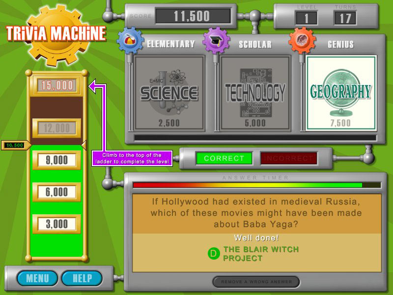Trivia Machine screen shot