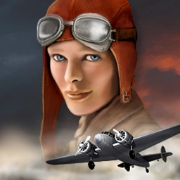 Unsolved Mystery Club (TM) - Amelia Earhart - Help the Unsolved Mystery Club™ find Amelia Earhart! - logo