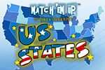 Quiz your child on the shapes of the states, the name of the states and their capital cities in the memory-style game US States Match'Em Up™.