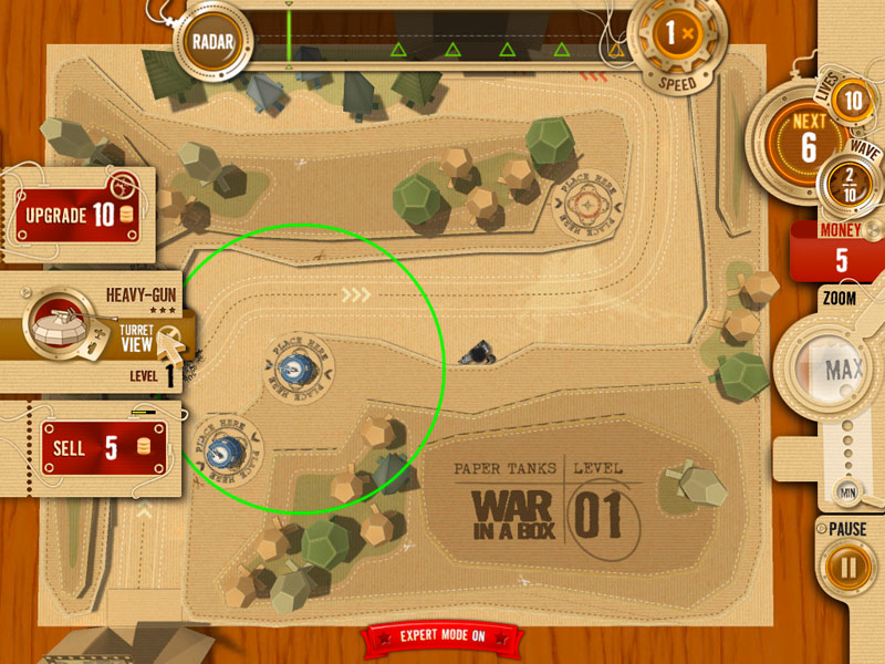 War in a Box: Paper Tanks screen shot