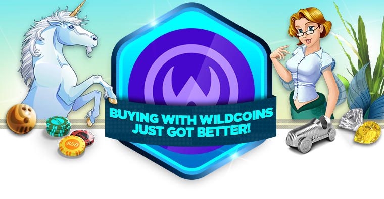 Buying with WildCoins Just got Better