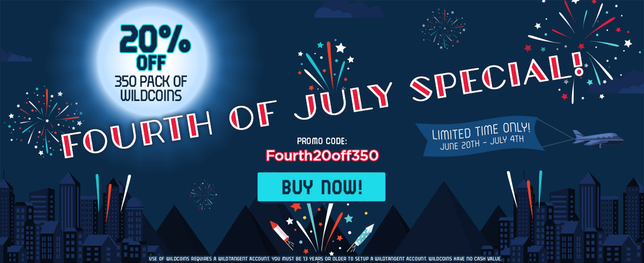 Fourth of July Special! - 20% off the 350 Pack of Wildcoins - image