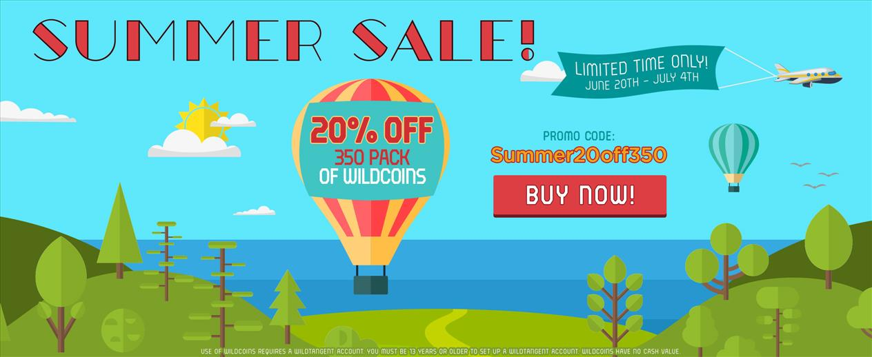Summer Sale! - 20% off the 350 Pack of Wildcoins - image