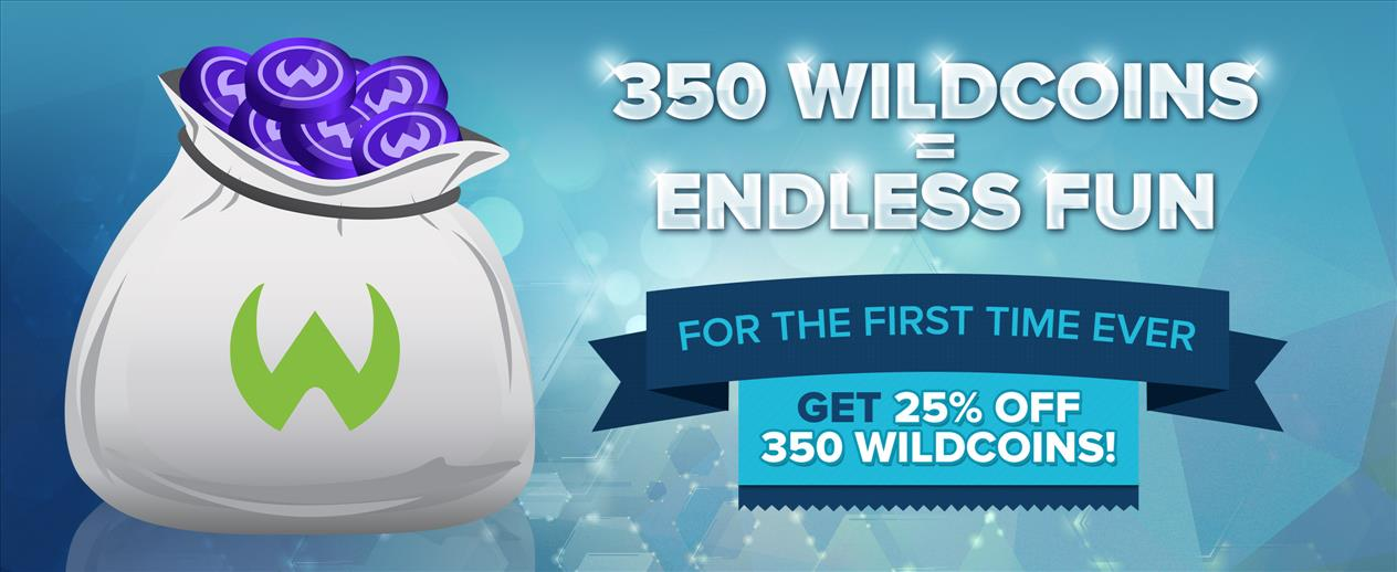 25% off 350 WildCoins Packs! - Don't miss this great deal! - image