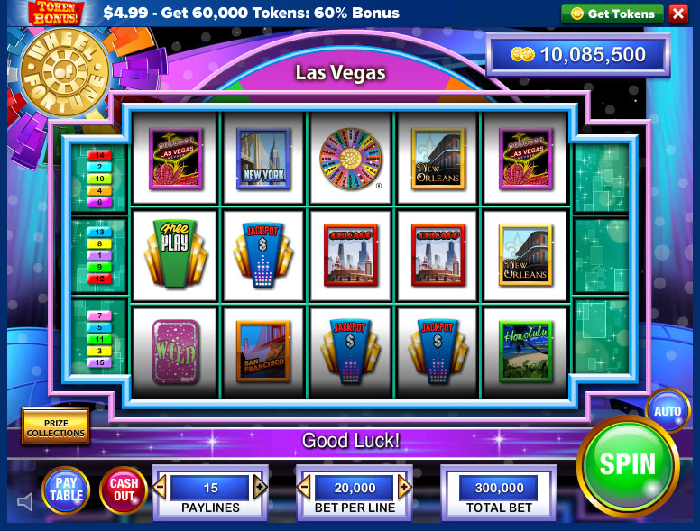 Wheel of fortune slots screen shot