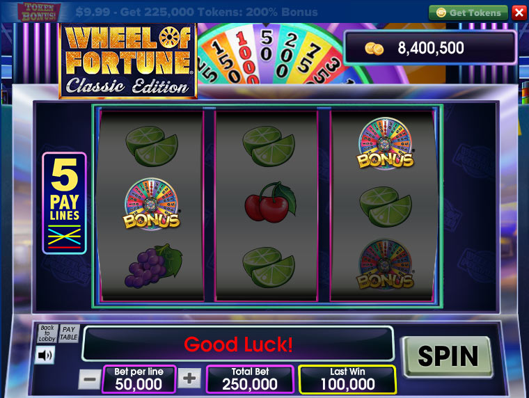classic wheel of fortune slots