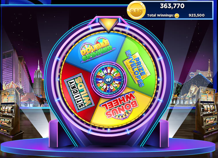 Wheel of fortune slots vegas edition screen shot