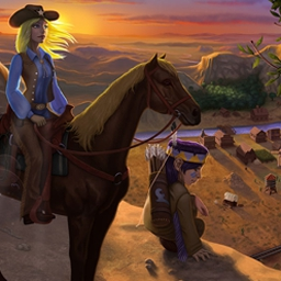Wild West Story: The Beginnings - Wild West Story: The Beginnings features a great mix of match-3 and hidden object levels! - logo