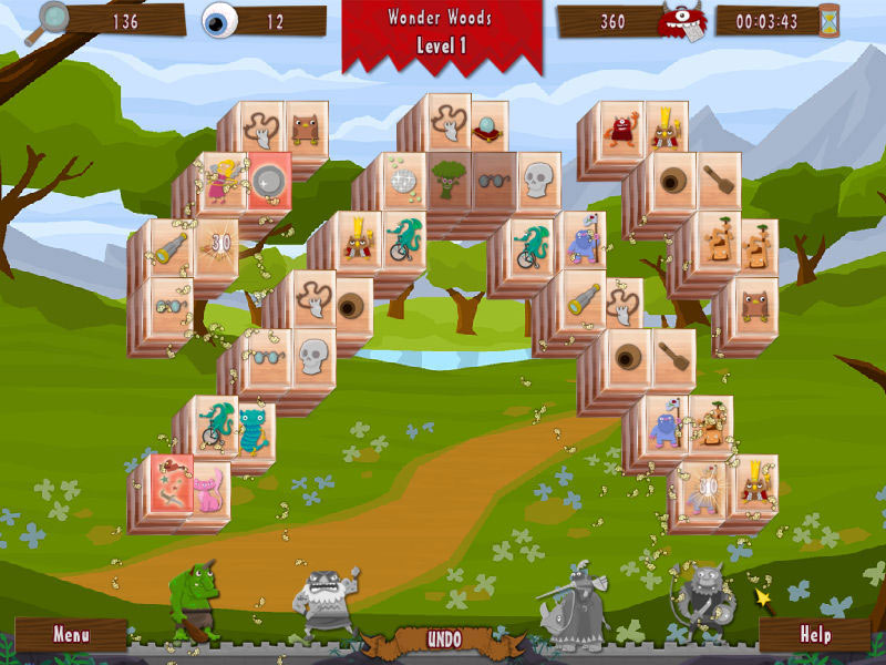Wonderland Mahjong screen shot