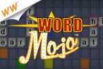 Link letter tiles to build intersecting words in Word Mojo - a cash game!