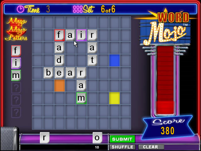 Cash Tournaments - Word Mojo screen shot