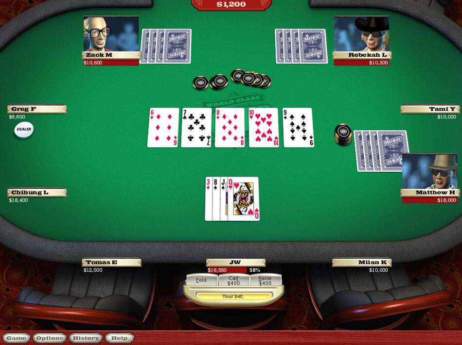 World Class Poker with T.J. Cloutier screen shot