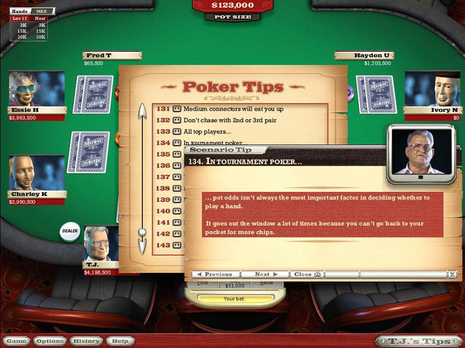 World Class Poker with T.J. Cloutier screen shot