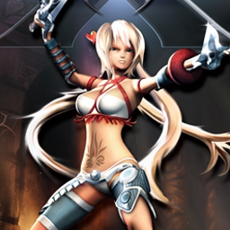 "X-Blades - X-Blades features deadly boss fights and Ayumi's unique ""Pistol Blades!"" - logo"