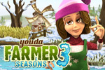 Youda Farmer 3: Seasons is a fun time management game with 8 new farms. Put your skills to the test with bugs, cold, and storms! Play online today!