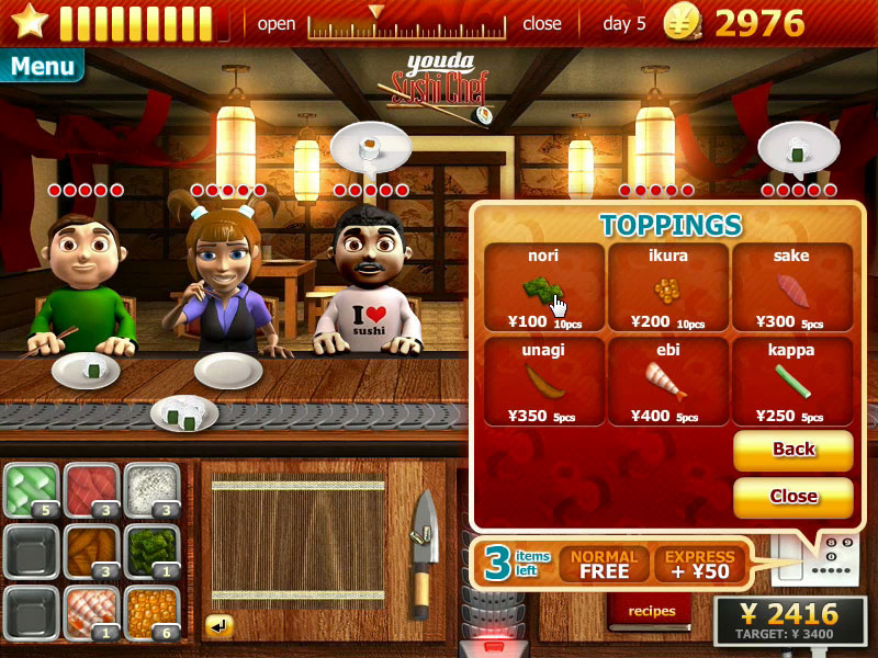 Youda Sushi Chef lets you become a.