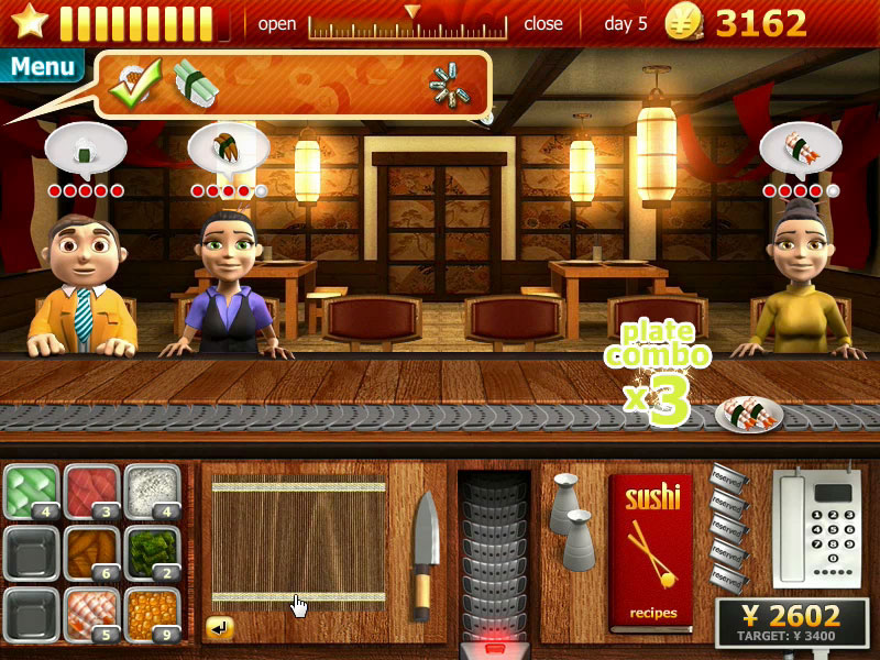 Youda Sushi Chef screen shot