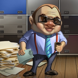 You're The Boss - In this time management game, a mysterious prophecy predicts your rise in the ranks.  Work your way up the corporate ladder because You're The Boss! - logo