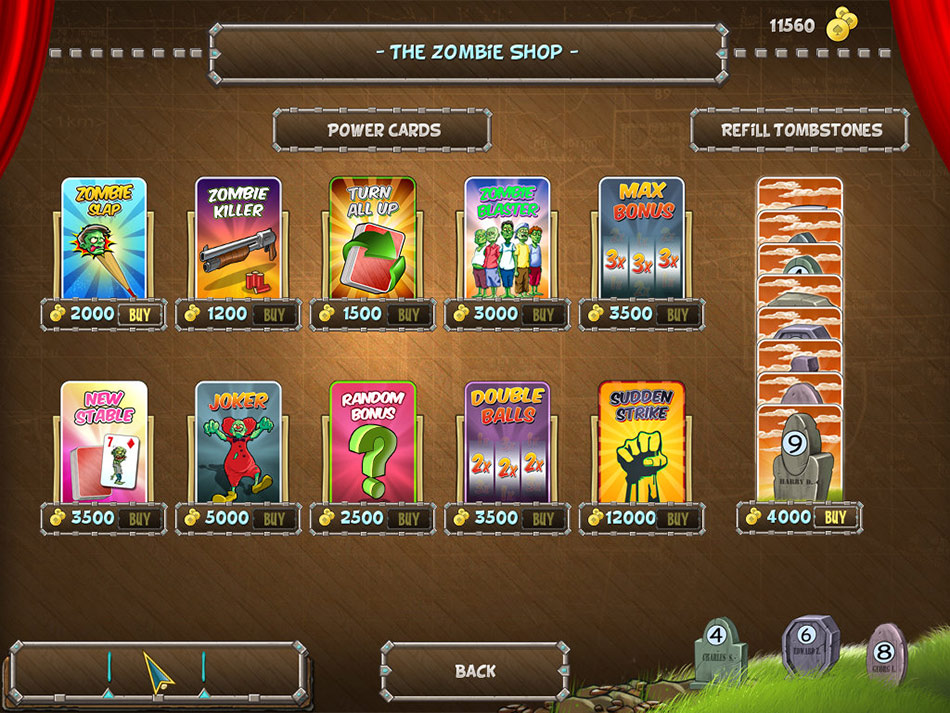Zombie Solitaire screen shot