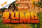 Fire magical orbs to create same-colored chains in Zuma - a cash game!