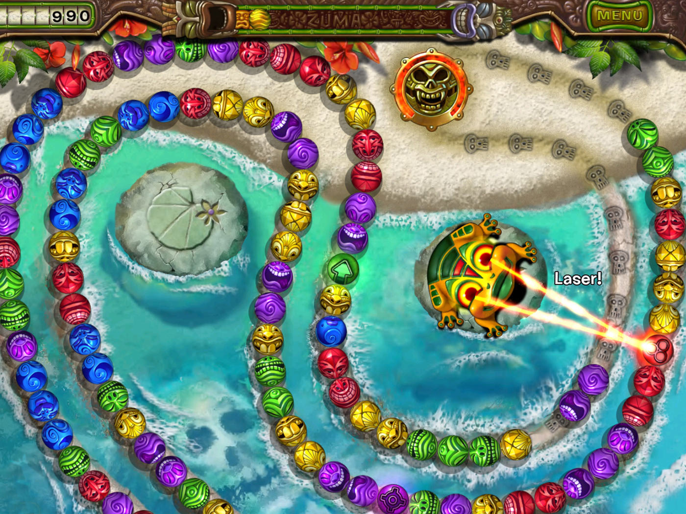 Zuma's Revenge screen shot