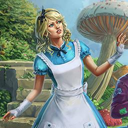 Alice's Patchwork - Travel through Wonderland and put together 120 patchwork mosaic puzzles in Alice's Patchwork! - logo