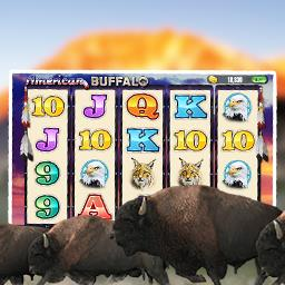 American Buffalo Slots - American Buffalo Slots is full of Free Spins, Double WILDs and over 1,000 ways to win! - logo