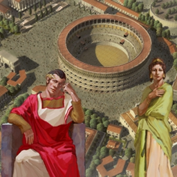 Ancient Rome - Make your contribution to Ancient Rome in over 30 levels of time management and strategy gameplay! - logo
