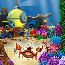 Aquacade - Dive into a deep-sea adventure with exotic fish and more! - logo
