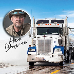 Arctic Trucker Simulator - Arctic Trucker Simulator - officially endorsed by Alex Debogorski - takes you down the world's iciest and most dangerous roads! - logo