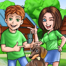 Ashton's Family Resort Online - Build your own tourist business in Ashton's Family Resort! Take tourists on fun vacations in this FREE online game. - logo