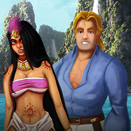 Aztec Venture - You're shipwrecked in an Aztec Venture! To get home, you'll need to break a curse left behind by an Aztec ruler in this Match 3 game. - logo