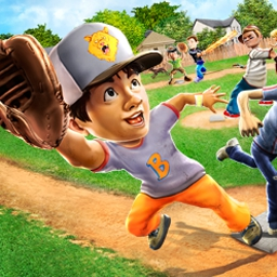 Backyard Sports - Sandlot Sluggers - Backyard Sports - Sandlot Sluggers is an out-of-the-park hit! - logo