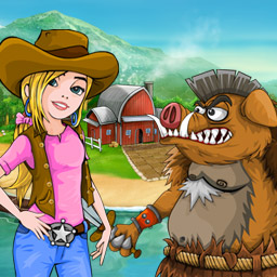 Battle Ranch - The evil boars are attacking! Use plants to defend your land in the tower defense game Battle Ranch! - logo