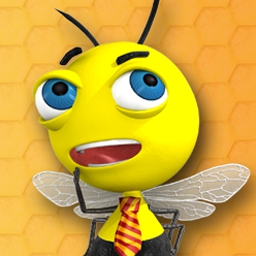 Beebo Deluxe - Play the match 3 Beebo Deluxe and help stop Bee Colony Collapse Disorder! - logo