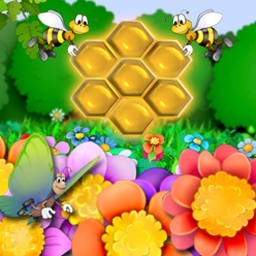 Beezzle - Help a hive of bees by feeding them pupae and making honey. - logo