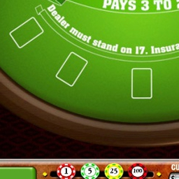 BlackJack - This free version of Blackjack brings Las Vegas to you with the setting and rules of a casino table! - logo