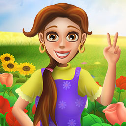 Bloom! - Help Jasmine plant, harvest and arrange flowers to bring joy to her village in Bloom!, a time management game! - logo