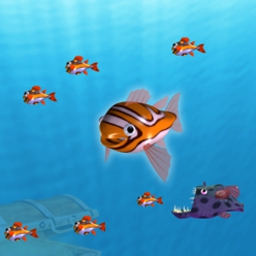 Bubblefish Bob - Be a bubblehead and save lives by diving in and freeing fish! - logo