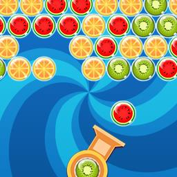 Bubble Fruit - Aim your bubbles and match 3 fruit in Bubble Fruit, a FREE marble shooter! - logo