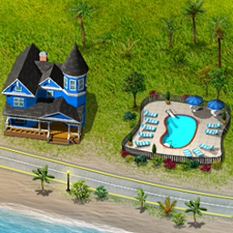 Build-a-lot: On Vacation - Build-a-lot: On Vacation has you building and beautifying vacation attractions of all different types! Play through 65 fun-filled levels. - logo