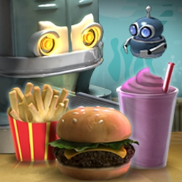 Burger Shop - Run a fast food empire in Burger Shop, a tasty time management game! - logo