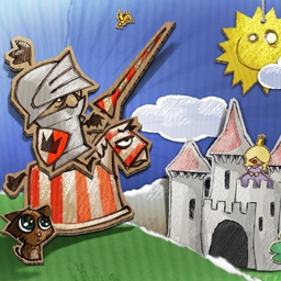 Cardboard Castle - Inside a cardboard cut-out world, a noble fearless knight must fight for glory against grave dangers. All in a day's work in Cardboard Castle! - logo