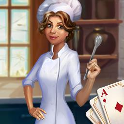 Chef Solitaire USA - Collect stars. Unlock restaurants. Build your franchise. Play the card game Chef Solitaire USA! - logo