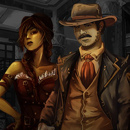 Coyote The Outlander - Join Coyote and Caesar in a steampunk hidden object adventure in Coyote the Outlander! - logo