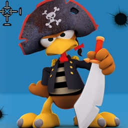 Crazy Chicken Pirates - Conquista una isla de Crazy Chicken Pirates y haz que graznen. - logo
