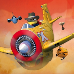 Crazy Chicken Skybotz - Shoot down robots and reach refueling checkpoints to become the world's greatest flying chicken in Crazy Chicken Skybotz! - logo