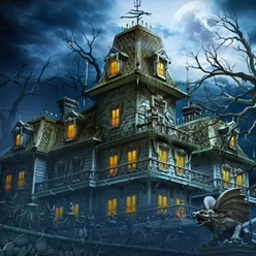 Cursed House - Free a Cursed House from evil spirits by using your Match 3 skills! - logo