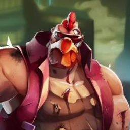 Cyber Chicken - Cyber Chicken is 2.5D side-scrolling, rollicking adventure featuring 8', 375 pounds of cybernetic poultry as a futuristic killing machine - logo