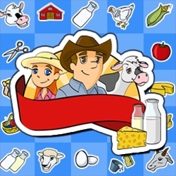 Dairy Dash - Help these city slickers manage the family farm, Diner Dash™ style! - logo